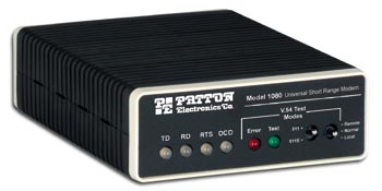 Patton Model 1080A AC-Powered, Universal Synchronous/Asynchronous, Short-Range Modem