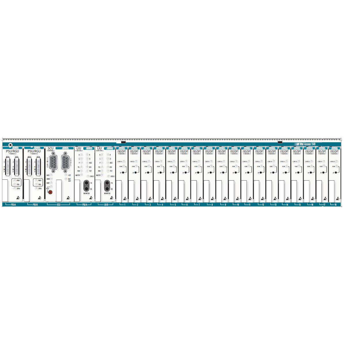 Adtran Total Access 1500 Quad RS-232 Module - 1180435L1