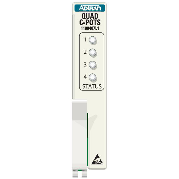 Adtran Total Access 1500 Quad C-Pots Access Module - 1180407L1