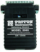 Patton Models 2084, 2085 & 2086 Interface Powered, RS-232 to RS-485 Interface Converter (with Handshaking)