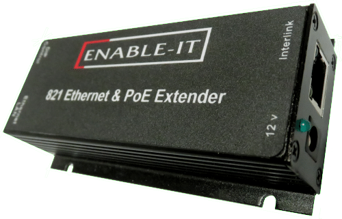 Enable-IT 821P PoE Extender Kit  - 100Mbps 1-port PoE over 4-pair wiring