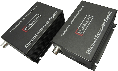 Enable-IT 860C PRO 1-pair Gigabit Ethernet COAX Extender Kit