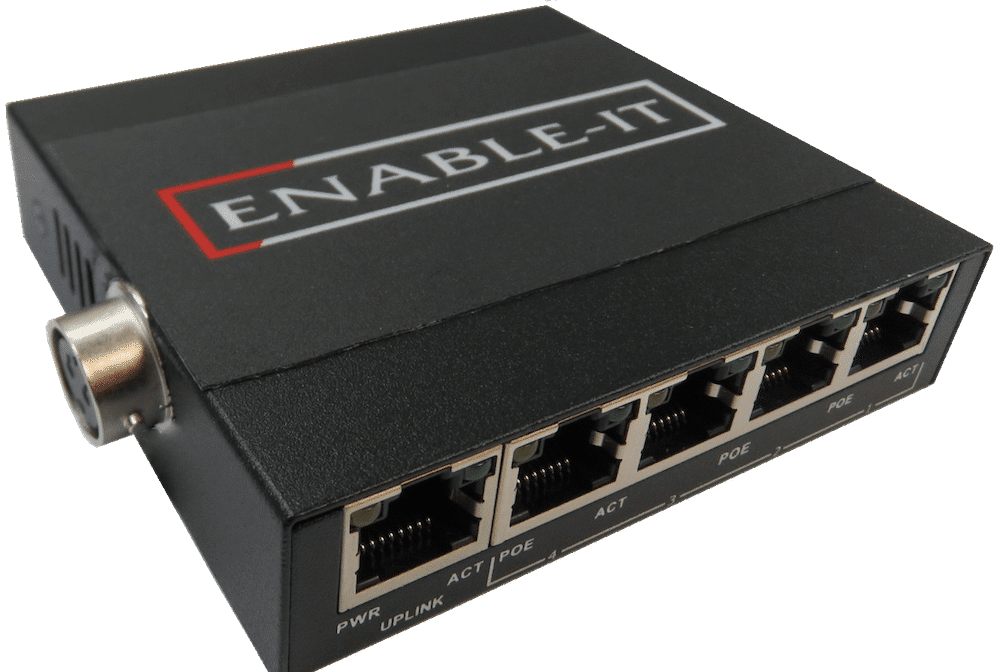 Enable-IT 8805M Automotive 5 Port Gigabit PoE Switch