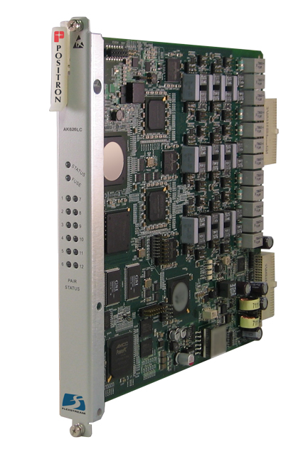 Positron AK626LC - 12 Port Ethernet Line Card for AK500S, Up to 800 Mbps Max Asymmetric, with VDSL2 Vectoring and ADSL2+, No Lin