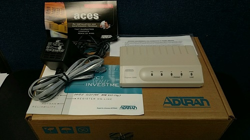 1203153L2 Adtran EXPRESS 3000 ISDN Modem With Two Phone Ports  Factory New Sealed