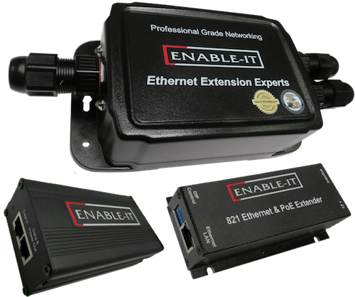 Enable-IT 824WP Outdoor Waterproof PoE Extender Kit