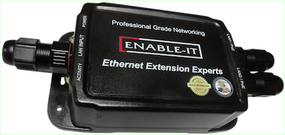 Enable-IT 828W 4-pair Outdoor PoE powered Gigabit Ethernet Extender