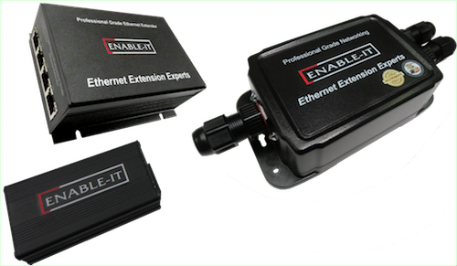 Enable-IT 860W PRO 1-pair Outdoor Gigabit Ethernet Extender Kit