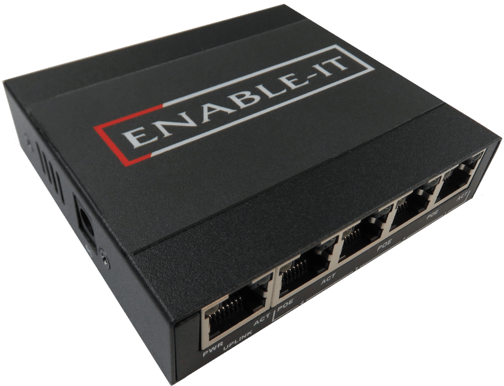Enable-IT 8805 High Power Gigabit PoE Switch 5 Port 30W per port