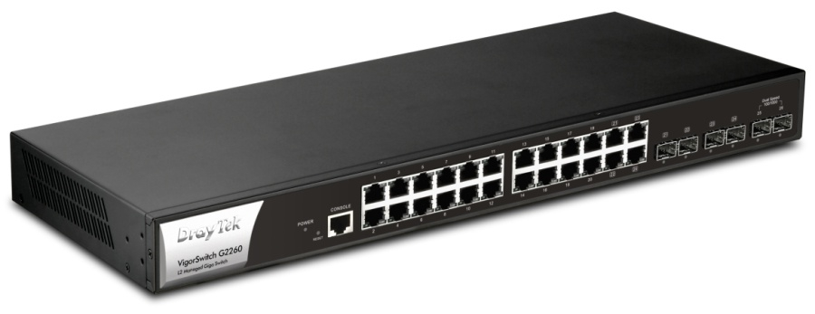 Draytek Vigor Switch G2260 PoE Gigabit Ethernet Switch