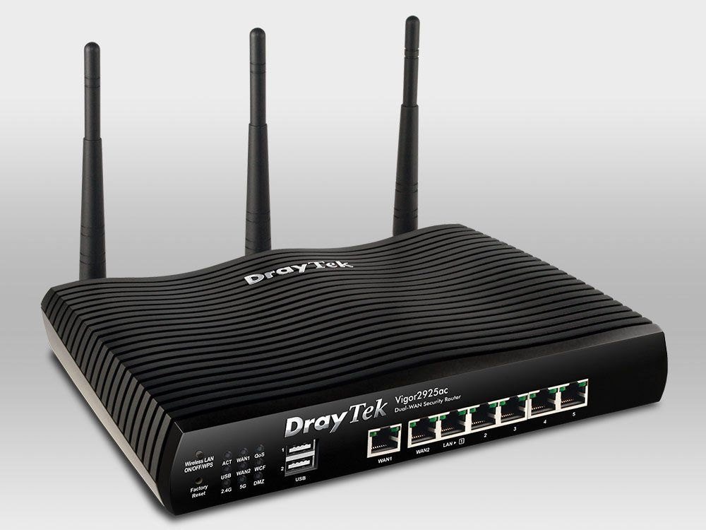 DrayTek Vigor2925ac Dual WAN Security Firewall Router - 10PK