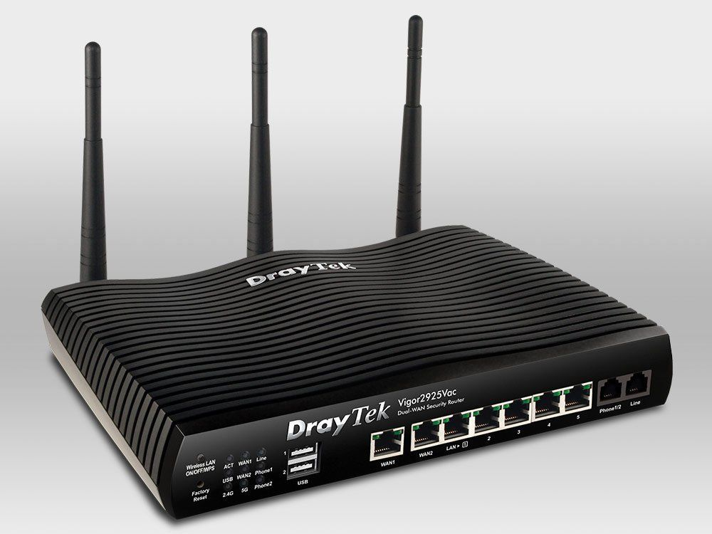 DrayTek Vigor2925Vac Dual WAN Security Firewall Router - 10PK