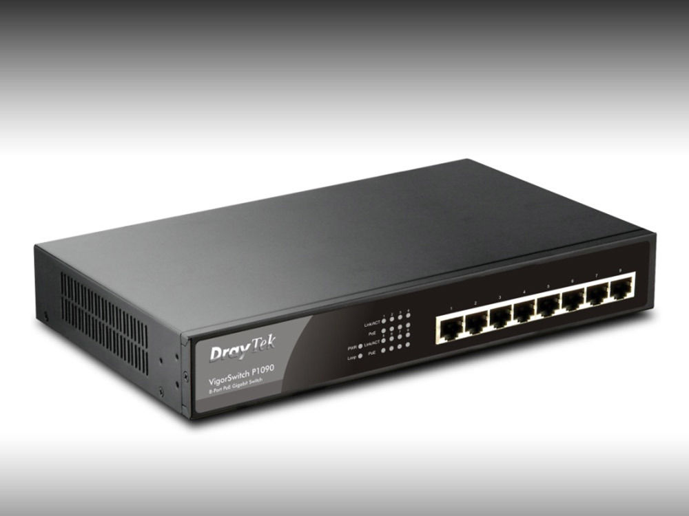 DrayTek VigorSwitch P1090 PoE Switch - 5PK