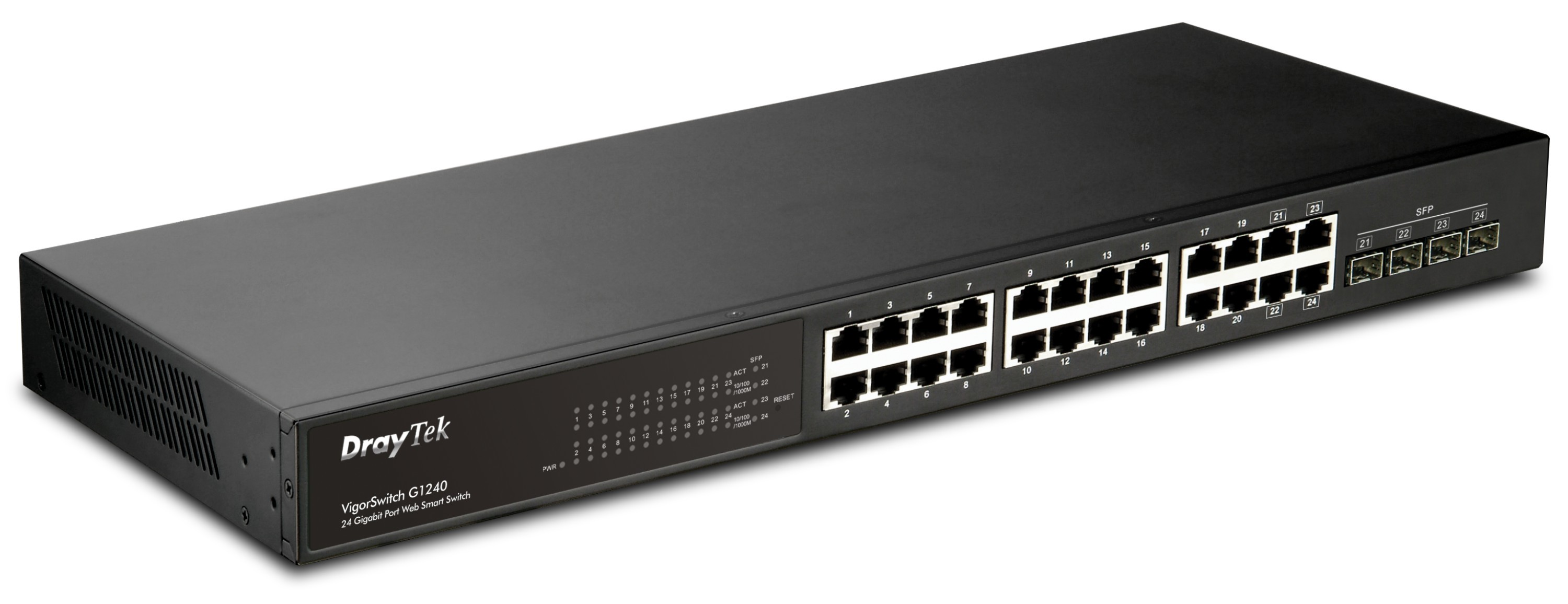 Draytek VigorSwitch G1240 PoE Gigabit Ethernet Switch