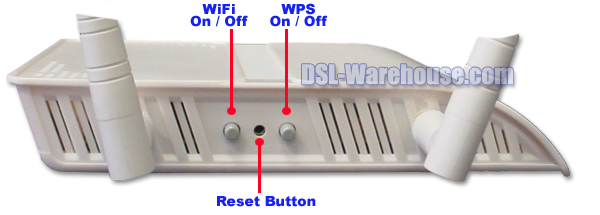 DCE 5204AV-NRD/K WiFi, WPS and Reset Buttons