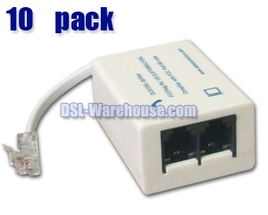 DSL ADSL Splitter / Filter - 10 Pack