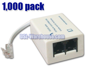 DSL ADSL Splitter / Filter - 1,000 Pack