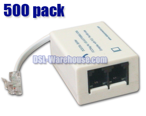 DSL ADSL Splitter / Filter - 500 Pack
