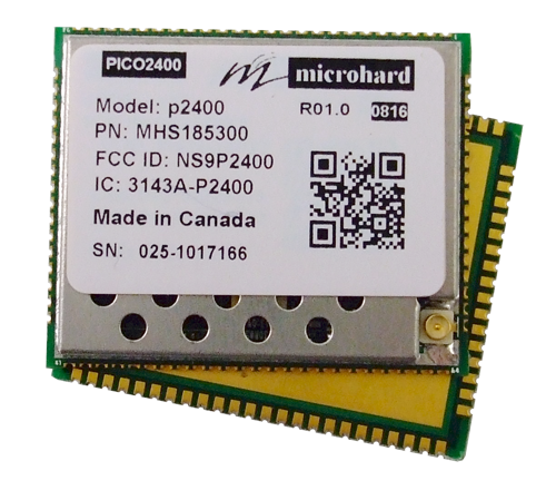 Microhard P2400 - Miniature 1W 2.4 GHz Wireless Modem