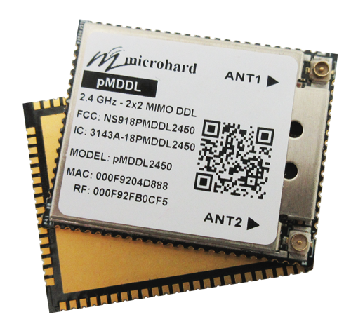 Microhard pMDDL2450 - Wireless MIMO (2X2) OEM Digital Data Link