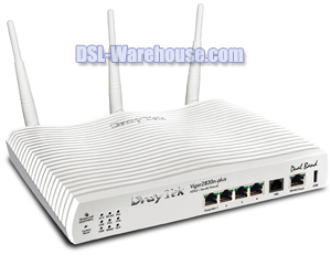 DrayTek Vigor 2830n-plus Wireless Gigabit LAN WAN ADSL2+ Firewall