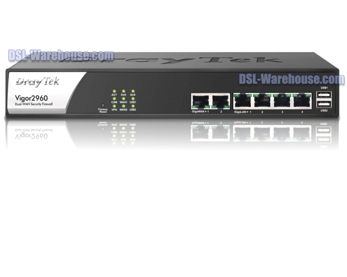 DrayTek Vigor 2960 Dual WAN High Performance Firewall VPN Router IPv6