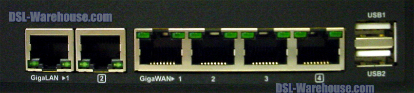 DrayTek Vigor Hardware Connections View