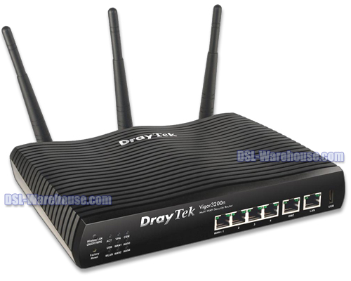 DrayTek Vigor 3200n Wireless 4-Port GigWAN Load Balancing Router