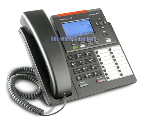 DrayTek Vigor Phone 350 IP Phone with Power Over Ethernet (PoE)