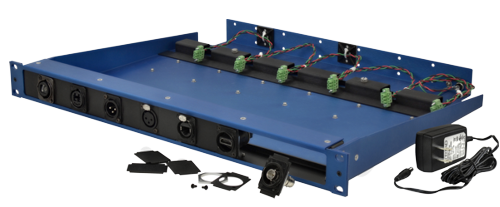 FiberPlex 6 Position Front Connect Rack for TD Series Modules with 16 Channel Modular Front Panel TDP