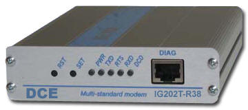 DATA CONNECT IG202T-R38-DC12 INDUSTRIAL MODEM