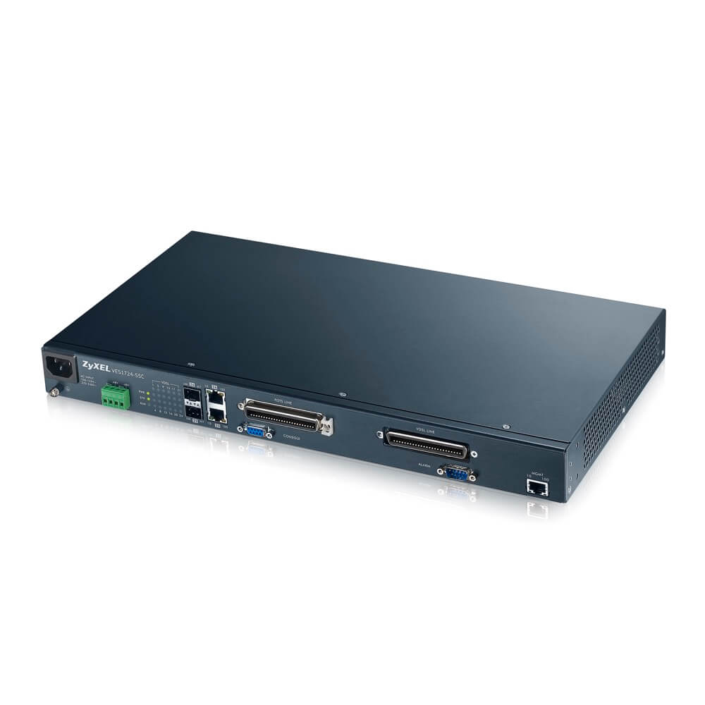 ZyXEL VES1724-55C 24-port Temperature-Hardened VDSL2 Box DSLAM