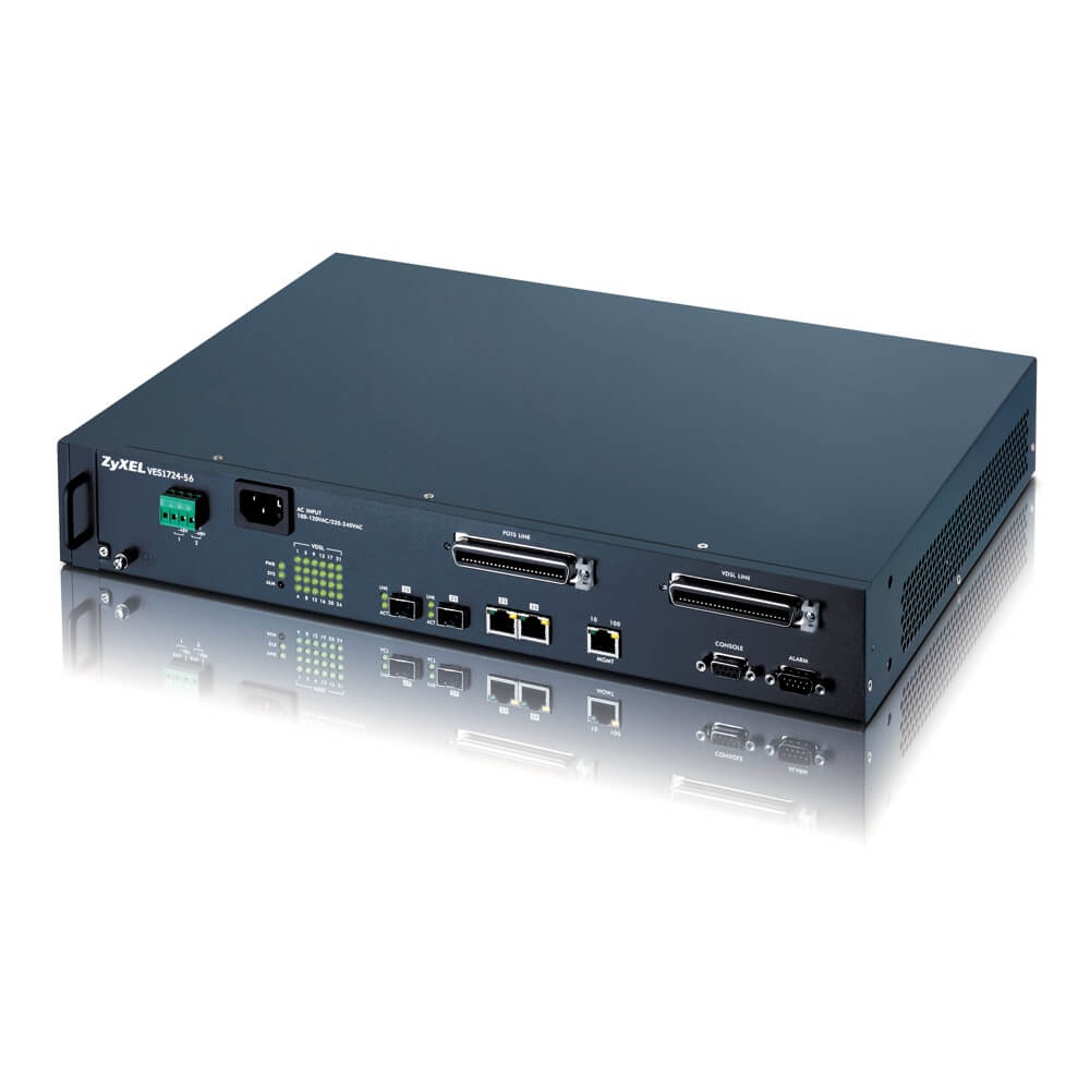 ZyXEL VES1724-56 24-port Temperature-Hardened VDSL2 Box DSLAM