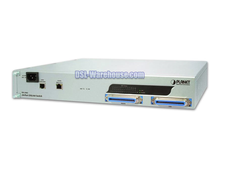 Planet IDL-2402 24-Port ADSL2 / ADSL2+ Mini IP DSLAM