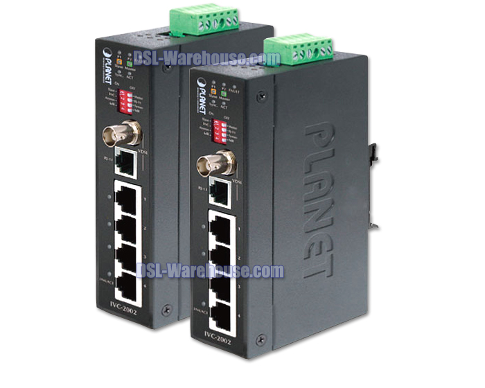 Planet IVC-2002 4-Port Industrial hardened Ethernet Extender Kit