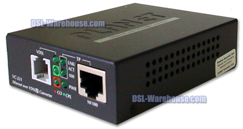 Planet Technology VC-231 Ethernet over VDSL2 Converter front view