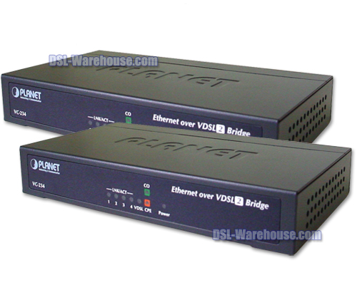 Planet Technology VC-234 4-Port Ethernet Extender 2-Pack