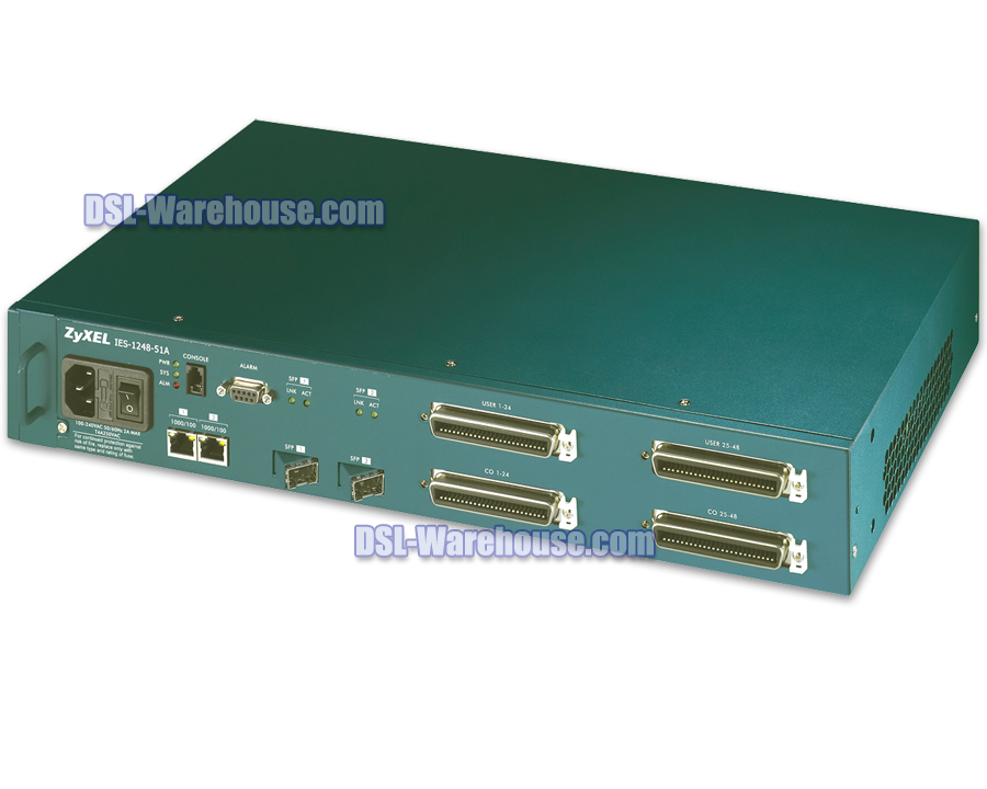 ZyXEL IES-1248 Hardened ADSL 2+ 48 Port IP DSLAM - AC Power